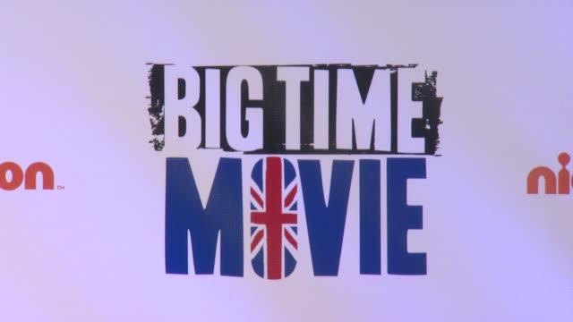signage at 'big time movie' starring big time rush original tv movie premiere and nickelodeon meet & greet on 3/8/2012 in new york, ny, united states. - nickelodeon stock videos & royalty-free footage