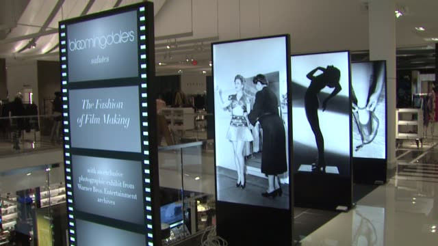 atmosphere signage at bloomingdale's celebrates glendale opening to benefit vh1 save the music foundation 11/06/13 - vh1 stock videos & royalty-free footage