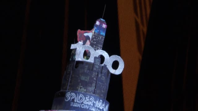 atmosphere signage at bono and the edge celebrate the 1000th performance of spiderman turn off the dark on broadway at foxwoods theater on may 29... - david 'the edge' howell evans stock videos and b-roll footage