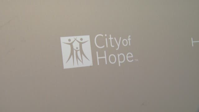 signage at city of hope honors halston ceo ben malka with spirit of life award on in los angeles ca - halston stock videos & royalty-free footage
