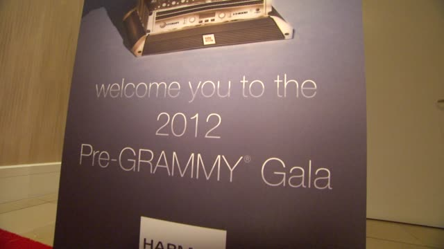 Signage at Clive Davis And The Recording Academy's 2012 PreGRAMMY Gala And Salute To Industry Icons Honoring Richard Branson on 2/11/12 in Beverly...