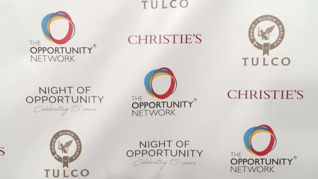 ATMOSPHERE Signage at Daniel Craig and Rachel Weisz CoChair The Opportunity Network's 11th Annual Night of Opportunity Gala at Cipriani Wall Street...