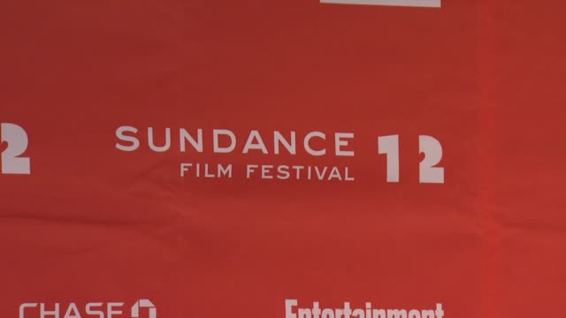 signage at day 1 press conference of 2012 sundance film festival on 1/19/12 in park city utah - 1日目点の映像素材/bロール