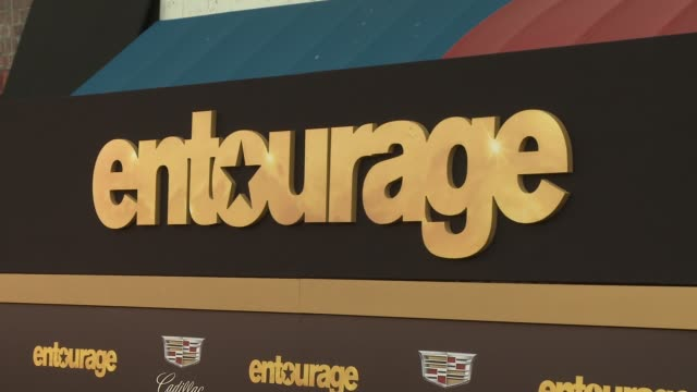 """signage at """"entourage"""" los angeles premiere at regency village theatre on june 01, 2015 in westwood, california. - regency village theater stock videos & royalty-free footage"""