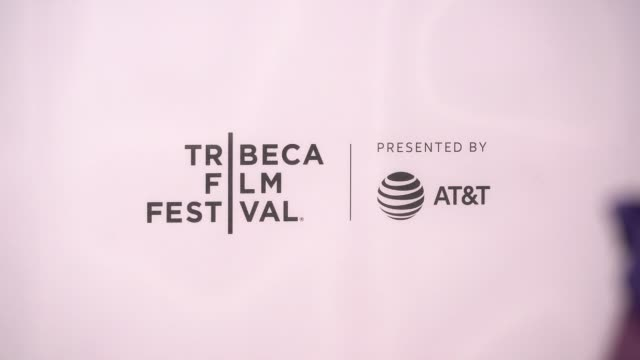 stockvideo's en b-roll-footage met atmosphere signage at extremely wicked shockingly evil and vile premiere at 2019 tribeca film festival at bmcc tribeca pac on may 02 2019 in new york... - première