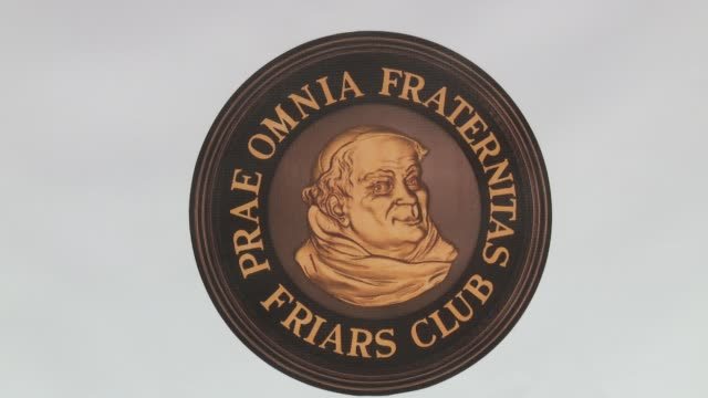 atmosphere signage at friars club honors martin scorsese with entertainment icon award at cipriani wall street on september 21 2016 in new york city - cipriani wall street stock videos & royalty-free footage