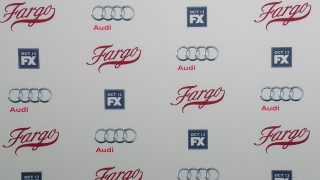 atmosphere signage at fx's fargo los angeles premiere at arclight cinemas on october 07 2015 in hollywood california - arclight cinemas hollywood stock-videos und b-roll-filmmaterial
