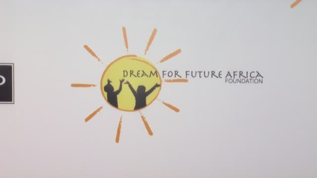 signage at gelila and wolfgang puck's dream for future africa foundation gala in beverly hills, ca, on . - wolfgang puck stock videos & royalty-free footage