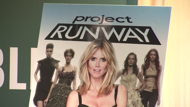 signage at heidi klum signs copies of project runway the show that changed fashion at barnes noble 5th avenue on july 13 2012 in new york new york - barnes & noble stock videos & royalty-free footage