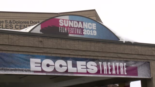 stockvideo's en b-roll-footage met atmosphere signage at 'honey boy' premiere 2019 sundance film festival at eccles center theatre on january 25 2019 in park city utah - sundance film festival