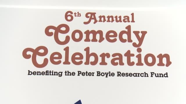 signage at international myeloma foundation 6th annual comedy celebration benefiting the peter boyle research fund on 10/27/12 in los angeles, ca - peter boyle stock videos & royalty-free footage