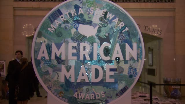 signage at Martha Stewart Transforms Grand Central Terminal Into Multimedia Celebration of American Artists Artisans and Entrepreneurs for Inaugural...