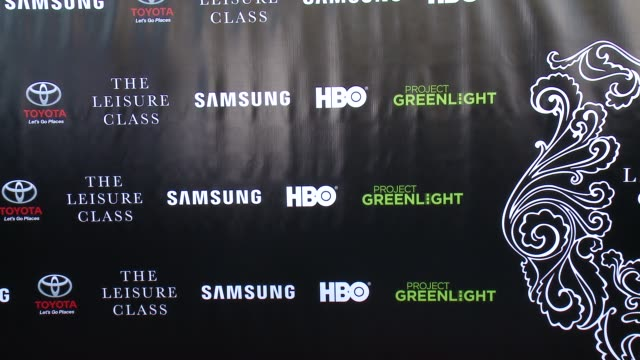ATMOSPHERE signage at Matt Damon Ben Affleck Adaptive Studios And HBO Present The Project Greenlight Season 4 Winning Film The Leisure Class at The...
