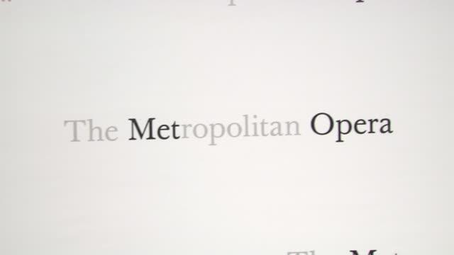 "vídeos de stock, filmes e b-roll de signage at metropolitan opera gala premiere of jules massenet's ""manon"" at the metropolitan opera house on march 26, 2012 in new york, new york - manon lescaut"