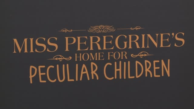 ATMOSPHERE signage at Miss Peregrine's Home For Peculiar Children New York Premiere at Saks Fifth Avenue on September 26 2016 in New York City