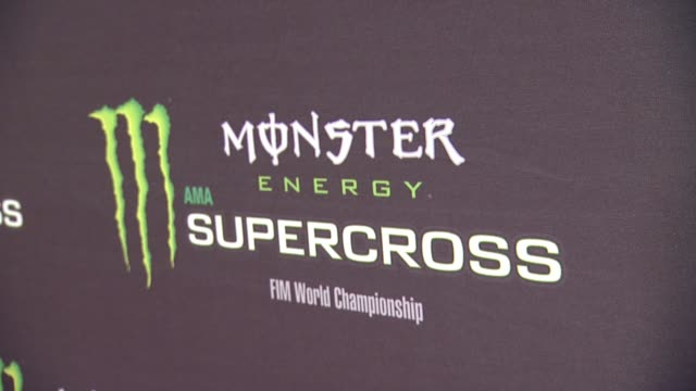 signage at monster energy supercross celebrity night at angel stadium of anaheim on january 23, 2016 in anaheim, california. - angel stadium stock videos & royalty-free footage