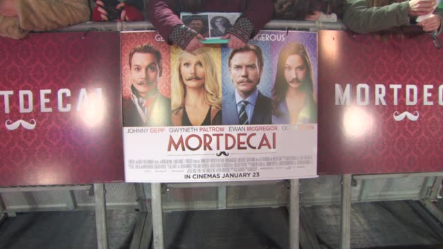 ATMOSPHERE Signage at 'Mortdecai' UK Premiere on January 19 2015 in London England
