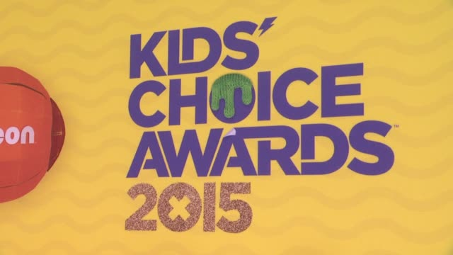 stockvideo's en b-roll-footage met atmosphere signage at nickelodeon's 28th annual kids' choice awards at the forum on march 28 2015 in inglewood california - nickelodeon
