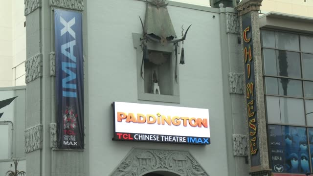 atmosphere signage at 'paddington' los angeles premiere at arclight cinemas cinerama dome on january 10 2015 in hollywood california - cinerama dome hollywood stock videos and b-roll footage