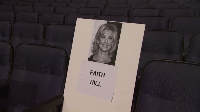 signage at people's choice awards 2012 rehearsals in los angeles, ca on 1/10/12 - people's choice awards stock-videos und b-roll-filmmaterial