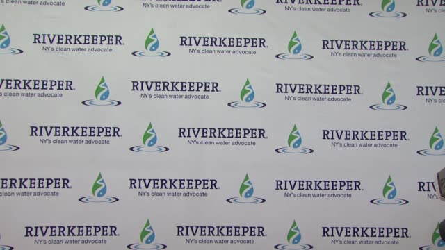 signage at riverkeeper's 50th anniversary fishermen's ball at pier sixty at chelsea piers on may 18, 2016 in new york city. - chelsea piers stock videos & royalty-free footage