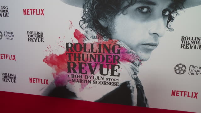 atmosphere signage at rolling thunder revue a bob dylan story by martin scorsese at rolling thunder revue a bob dylan story by martin scorsese at... - revue stock videos & royalty-free footage