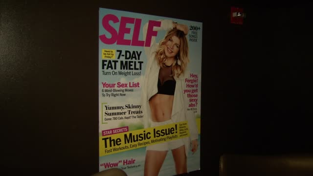 signage at self magazine celebrates the july music issue with cover star fergie at the hotel on rivington penthouse on june 05 2012 in new york new... - magazine publication stock videos & royalty-free footage