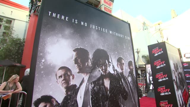 ATMOSPHERE Signage at Sin City A Dame To Kill For Los Angeles Premiere at TCL Chinese Theatre on August 19 2014 in Hollywood California