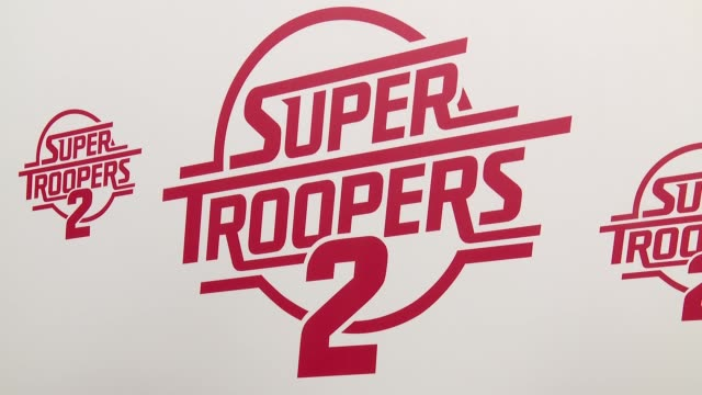 atmosphere signage at super troopers 2 new york premiere presented by fox searchlight pictures at regal union square theatre stadium 14 on april 18... - super troopers 2 stock videos & royalty-free footage