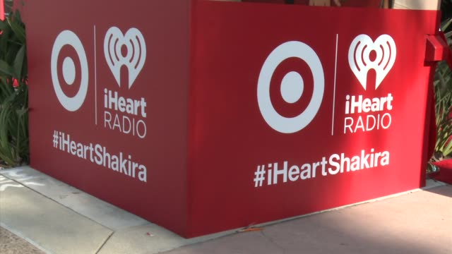 atmosphere signage at target presents the iheartradio album release party for shakira's exclusive deluxe edition in los angeles ca on march 24 2014 - shakira stock videos and b-roll footage