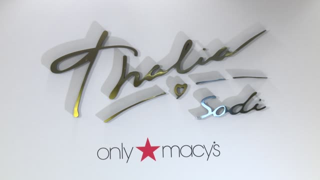 vídeos y material grabado en eventos de stock de atmosphere signage at thalia visits macy's herald square at macys herald square on march 8 2016 in new york city - herald square