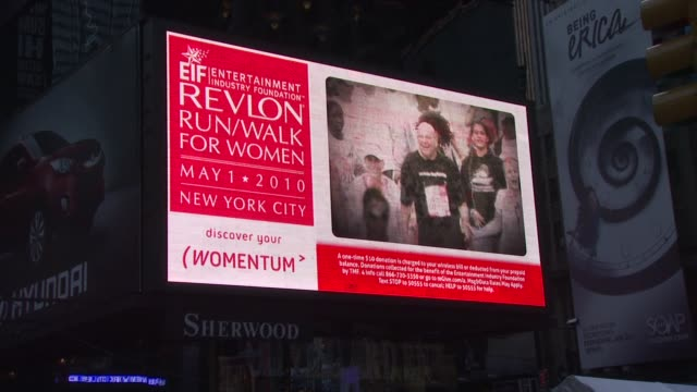 signage at the 13th annual eif revlon run/walk for women at new york ny - revlon stock videos and b-roll footage