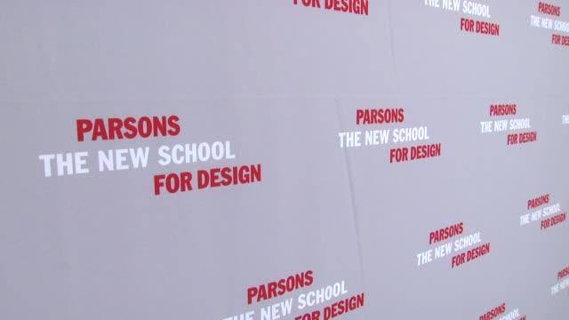 Signage at the 2009 Parsons Fashion Benefit Honoring Calvin Klein at New York NY