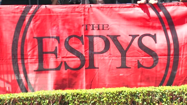 signage at the 2011 espy awards at los angeles ca - espy awards stock videos & royalty-free footage