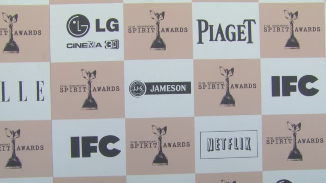 signage at the 2011 independent spirit awards - arrivals at santa monica ca. - independent feature project video stock e b–roll