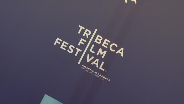 signage at the 2011 tribeca film festival premiere of 'let the bullets fly' at new york ny - film premiere stock videos and b-roll footage