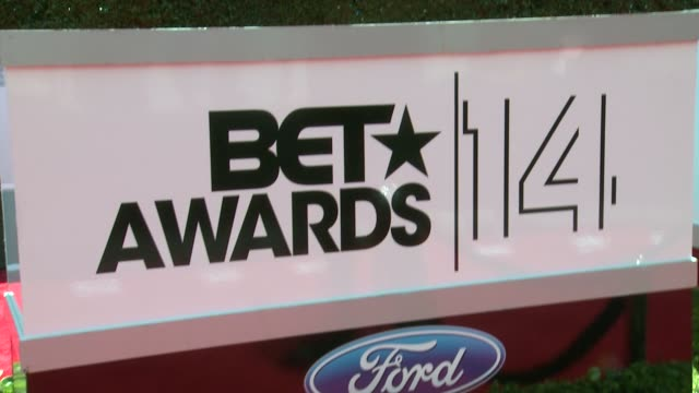 atmosphere signage at the 2014 bet awards on june 29 2014 in los angeles california - bet awards stock videos and b-roll footage