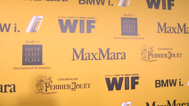stockvideo's en b-roll-footage met signage at the 2014 women in film crystal lucy awards presented by max mara bmw perrierjouet and south coast plaza at the hyatt regency century plaza... - century plaza