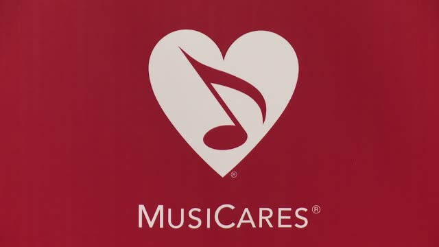 signage at the 2016 musicares person of the year honoring lionel richie at los angeles convention center on february 13, 2016 in los angeles,... - ライオネル・リッチー点の映像素材/bロール
