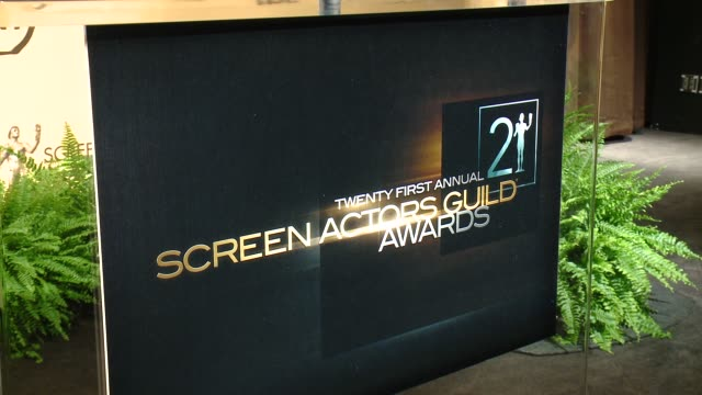 atmosphere signage at the 21st annual screen actors guild awards® nominations announcement at pacific design center on december 10 2014 in west... - pacific design center stock videos and b-roll footage