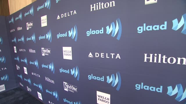 atmosphere signage at the 26th annual glaad media awards at the beverly hilton hotel on march 21 2015 in beverly hills california - the beverly hilton hotel stock videos & royalty-free footage