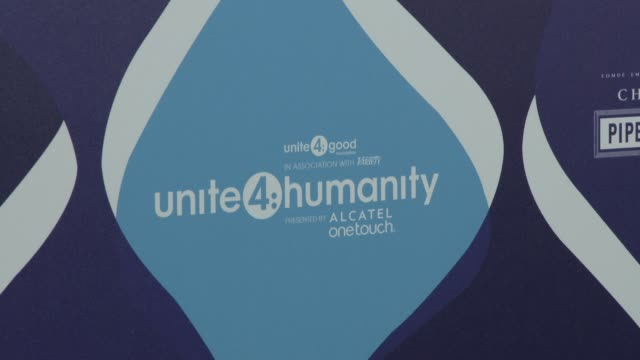 vídeos y material grabado en eventos de stock de atmosphere signage at the 2nd annual unite4humanity presented by alcatel onetouch on february 19 2015 in beverly hills california - fiesta de los óscar