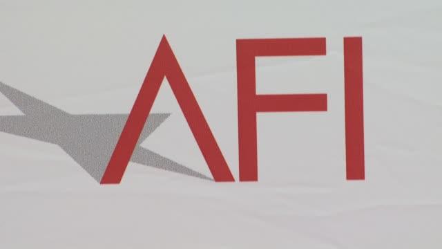 signage at the 38th afi life achievement award honoring mike nichols at culver city ca - afi life achievement award bildbanksvideor och videomaterial från bakom kulisserna