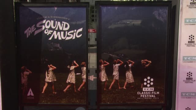 atmosphere signage at the 50th anniversary screening of the sound of music at tcl chinese theatre imax on march 26 2015 in hollywood california - tcl chinese theatre stock videos & royalty-free footage