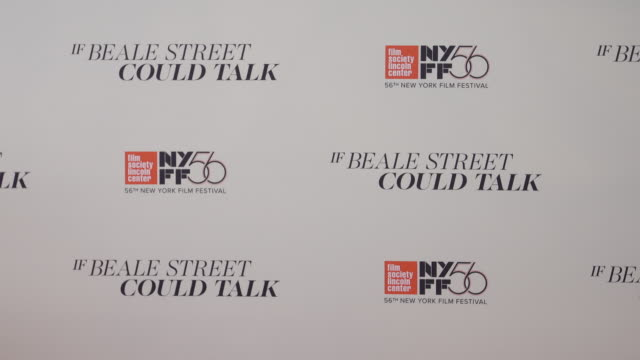vídeos de stock, filmes e b-roll de atmosphere signage at the 56th annual new york film festival presents the us premiere of james baldwin's if beale street could talk at the apollo... - if beale street could talk