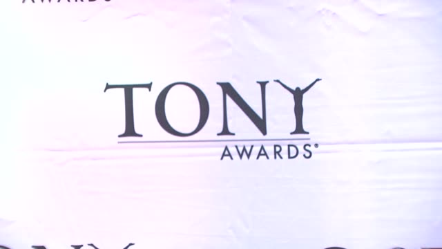 signage at the 62nd annual tony awards at new york ny. - annual tony awards stock videos & royalty-free footage