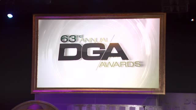 signage at the 63rd annual directors guild of america awards at hollywood ca. - director's guild of america stock videos & royalty-free footage
