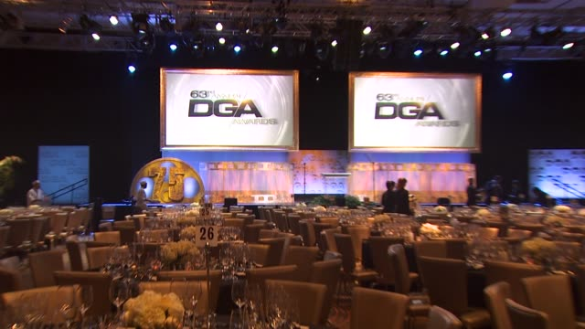 signage at the 63rd annual directors guild of america awards at hollywood ca - directors guild of america awards stock videos & royalty-free footage