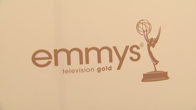 signage at the 63rd primetime emmy awards arrivals part 1 at los angeles ca - エミー賞点の映像素材/bロール