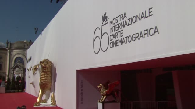 Signage at the 65th Venice Film Festival Valentino The Last Emperor Red Carpet Arrivals and interviews at Venice